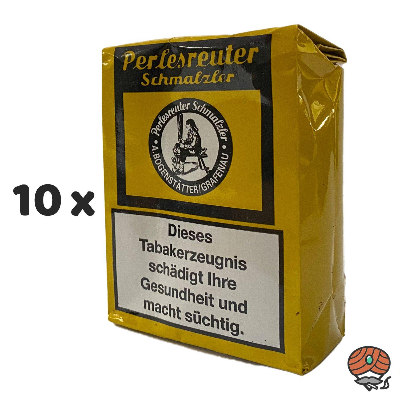 10 x Perlesreuter Schmalzler Schnupftabak 100g von Pöschl
