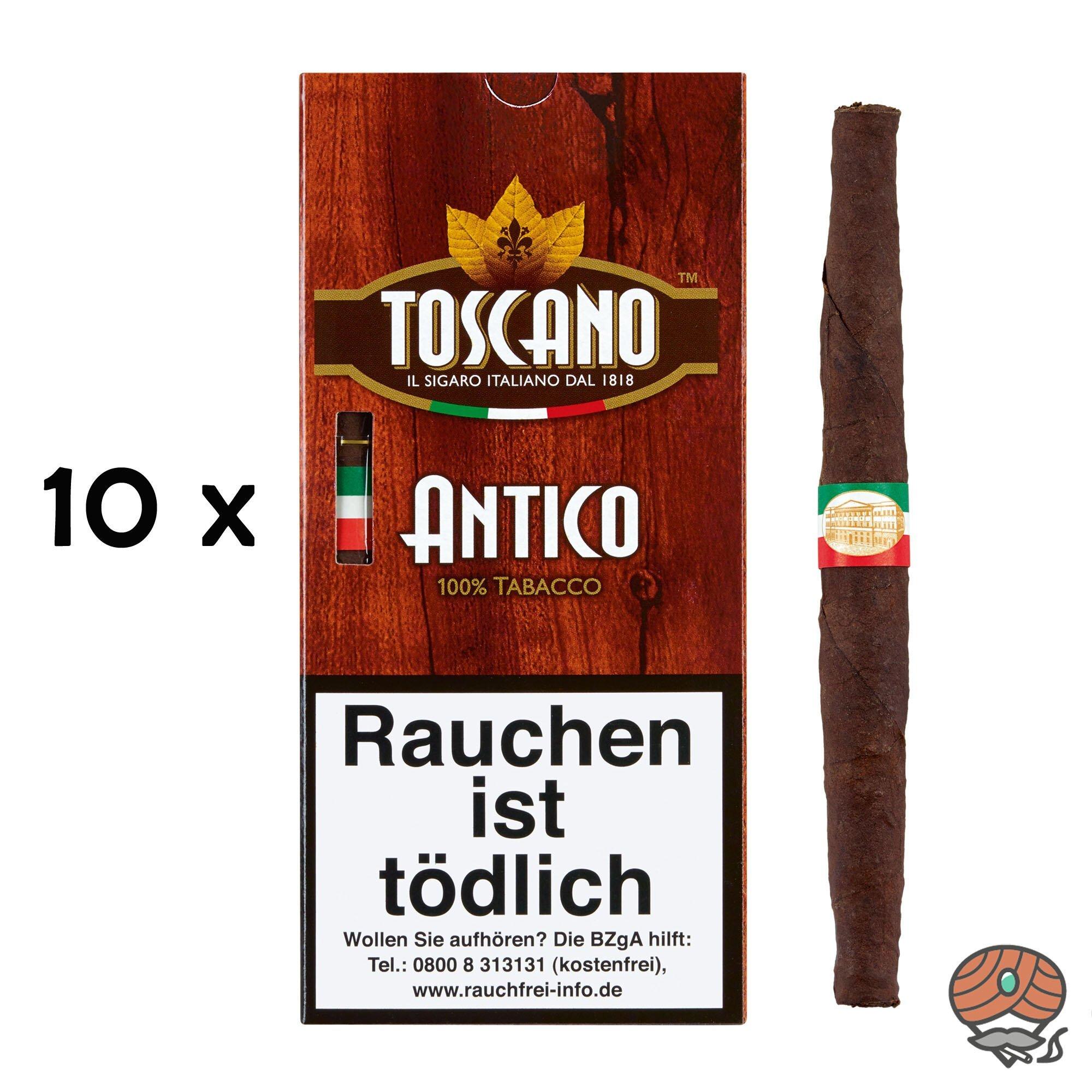 10 x Toscano Antico 100% Tabacco Zigarren à 5 Stück