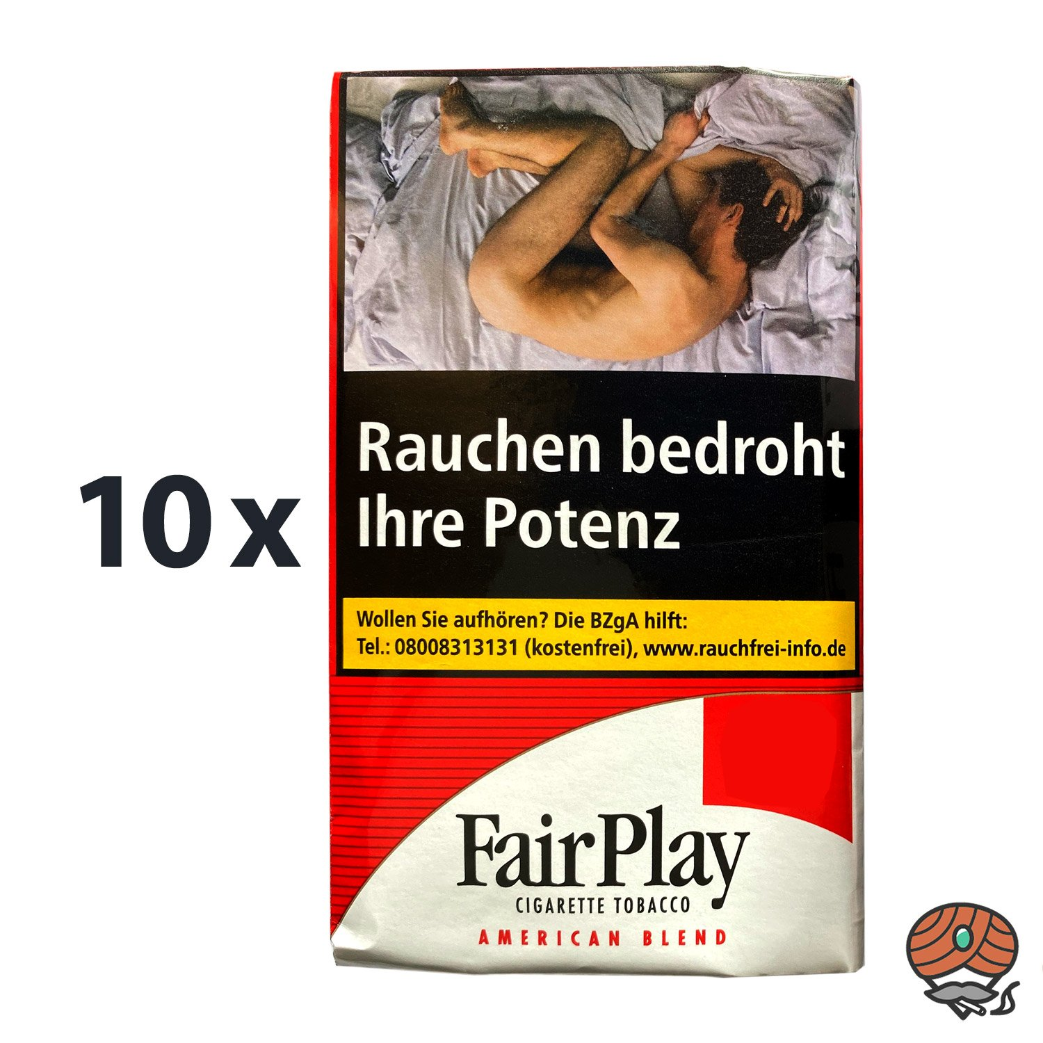 10 x FairPlay American Blend Tabak / Drehtabak Pouches à 30 g