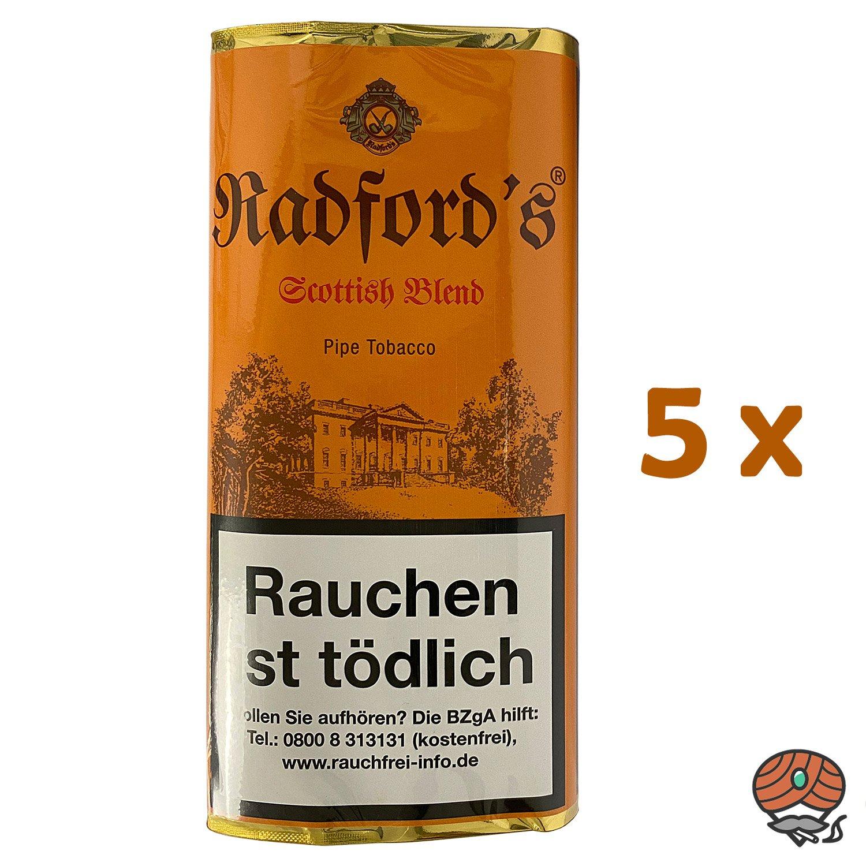 5x Radford´s Scottish Blend Pfeifentabak Pouch à 50 g (ehem. Old Scotch)