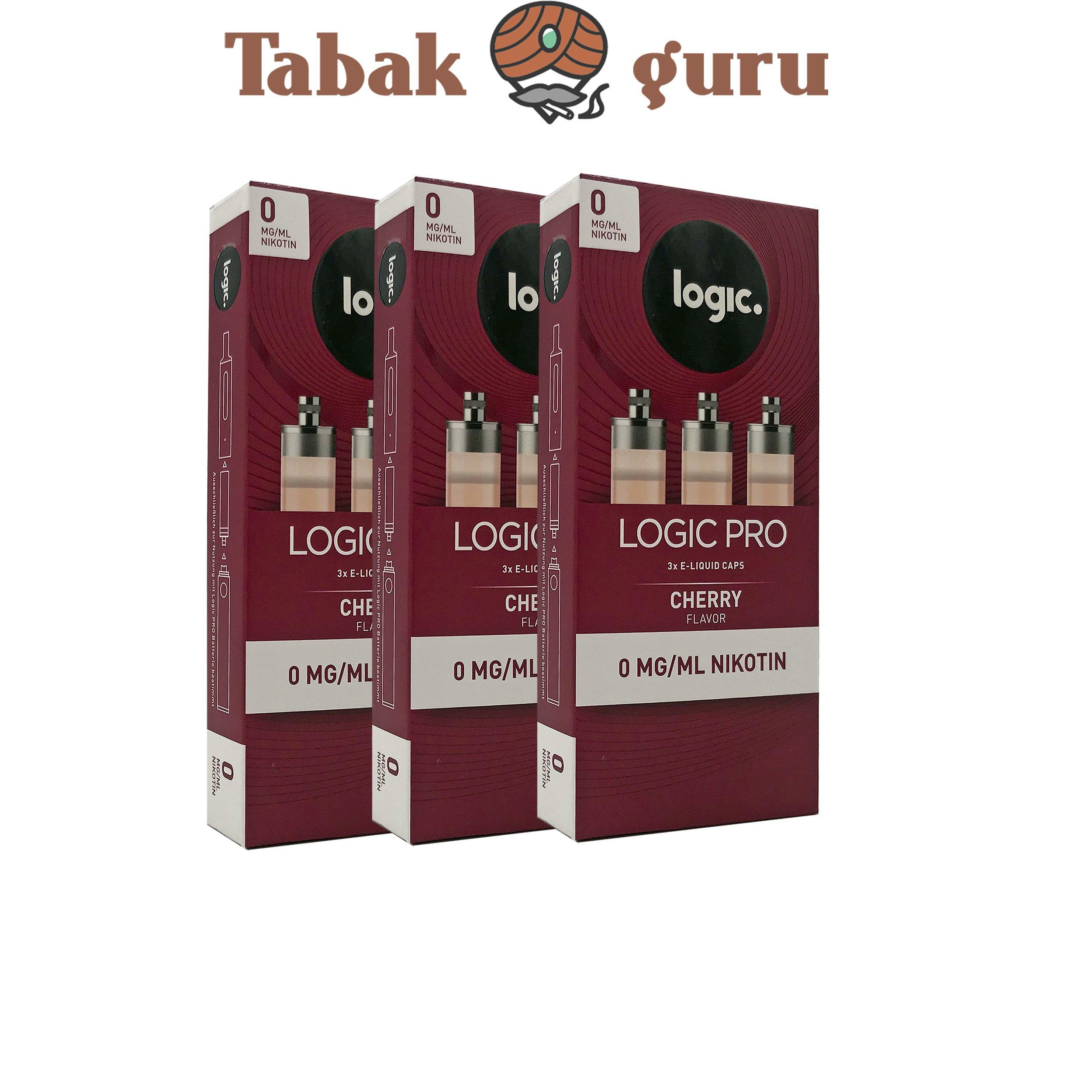 Logic Pro e-Liquid 3x 3er Caps Cherry Flavor 0 mg/ml