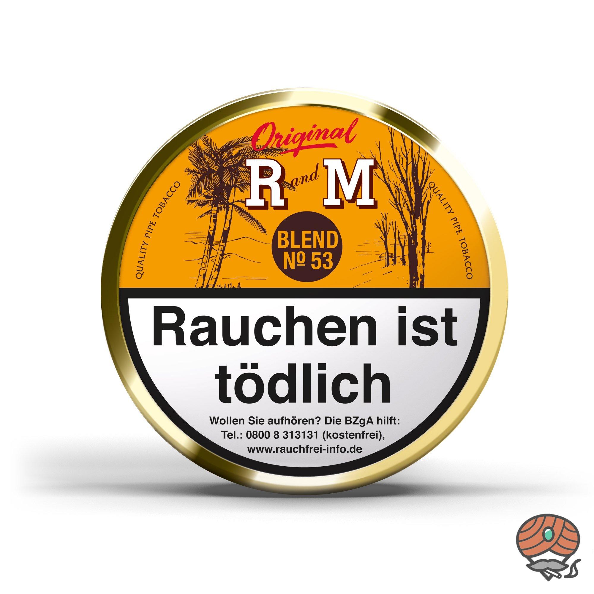 R und M (Rum and Maple) Original Blend No. 53 Pfeifentabak 100g Dose