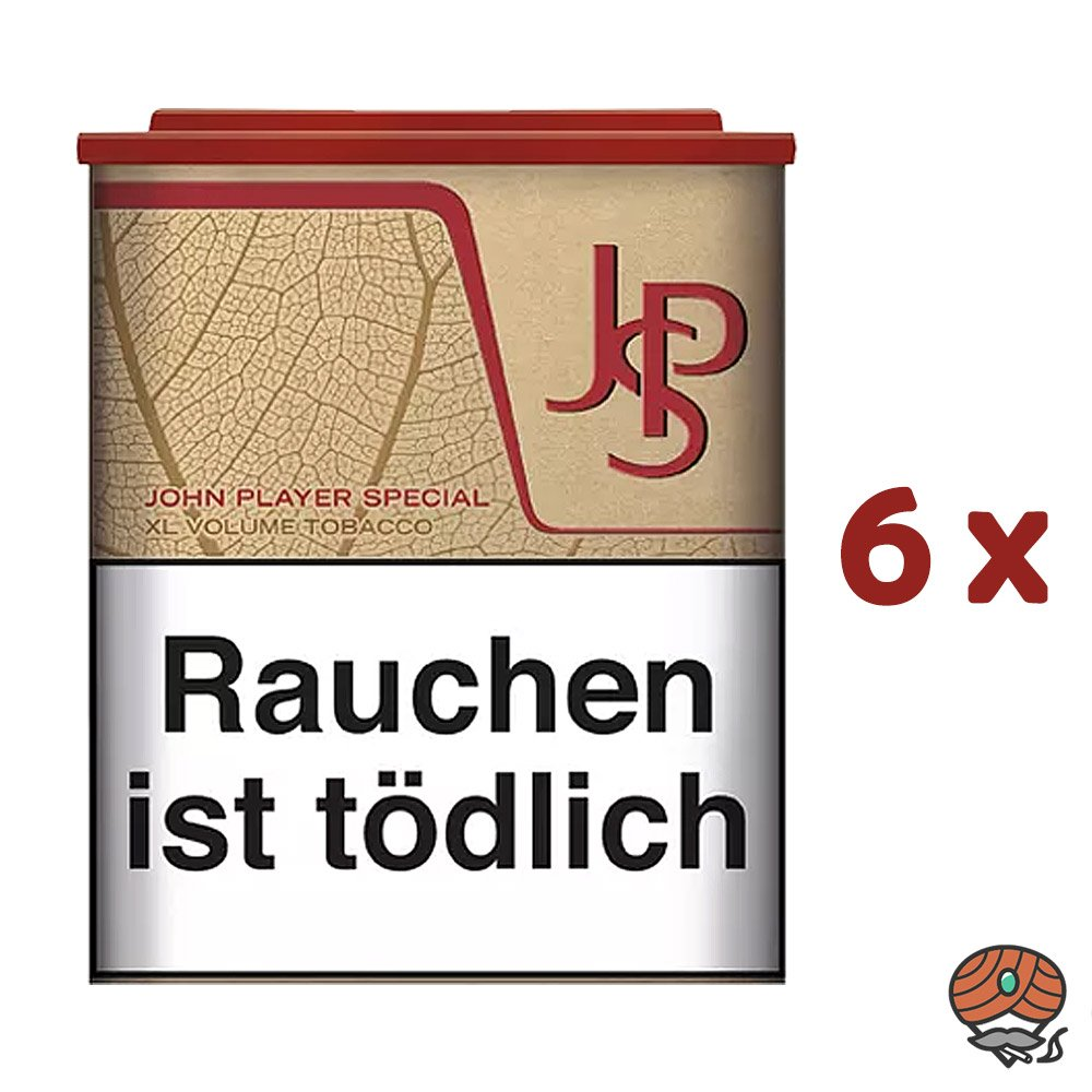 6x JPS John Player Special Just Red XL Volumentabak - Tabak Dose à 45g