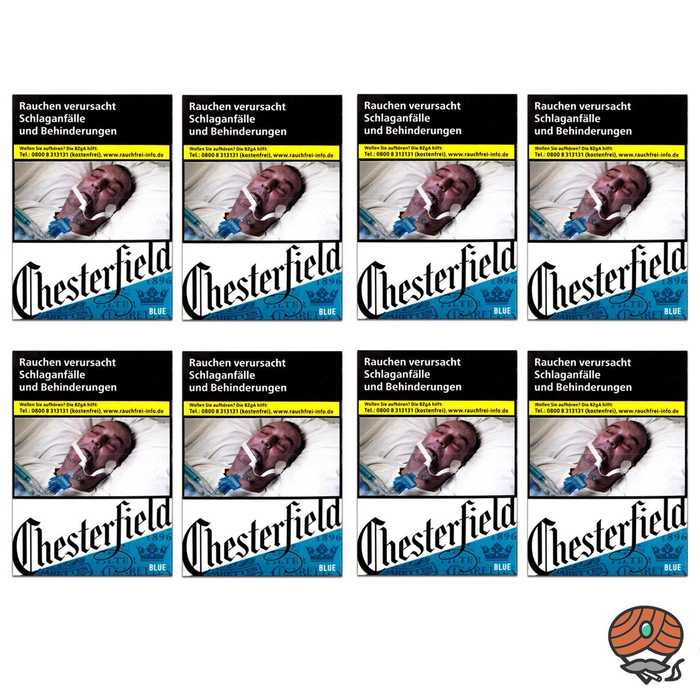 1 Stange Chesterfield BLUE Zigaretten XL Schachtel 8x25 Stück