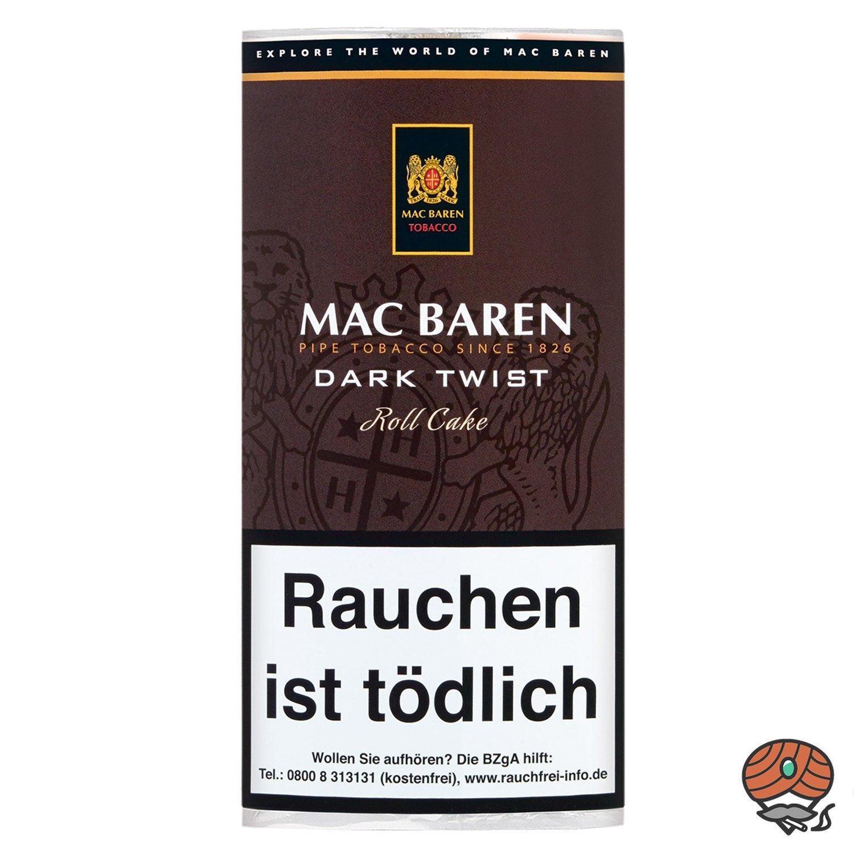 Mac Baren Dark Twist Roll Cake Pfeifentabak 50g Pouch