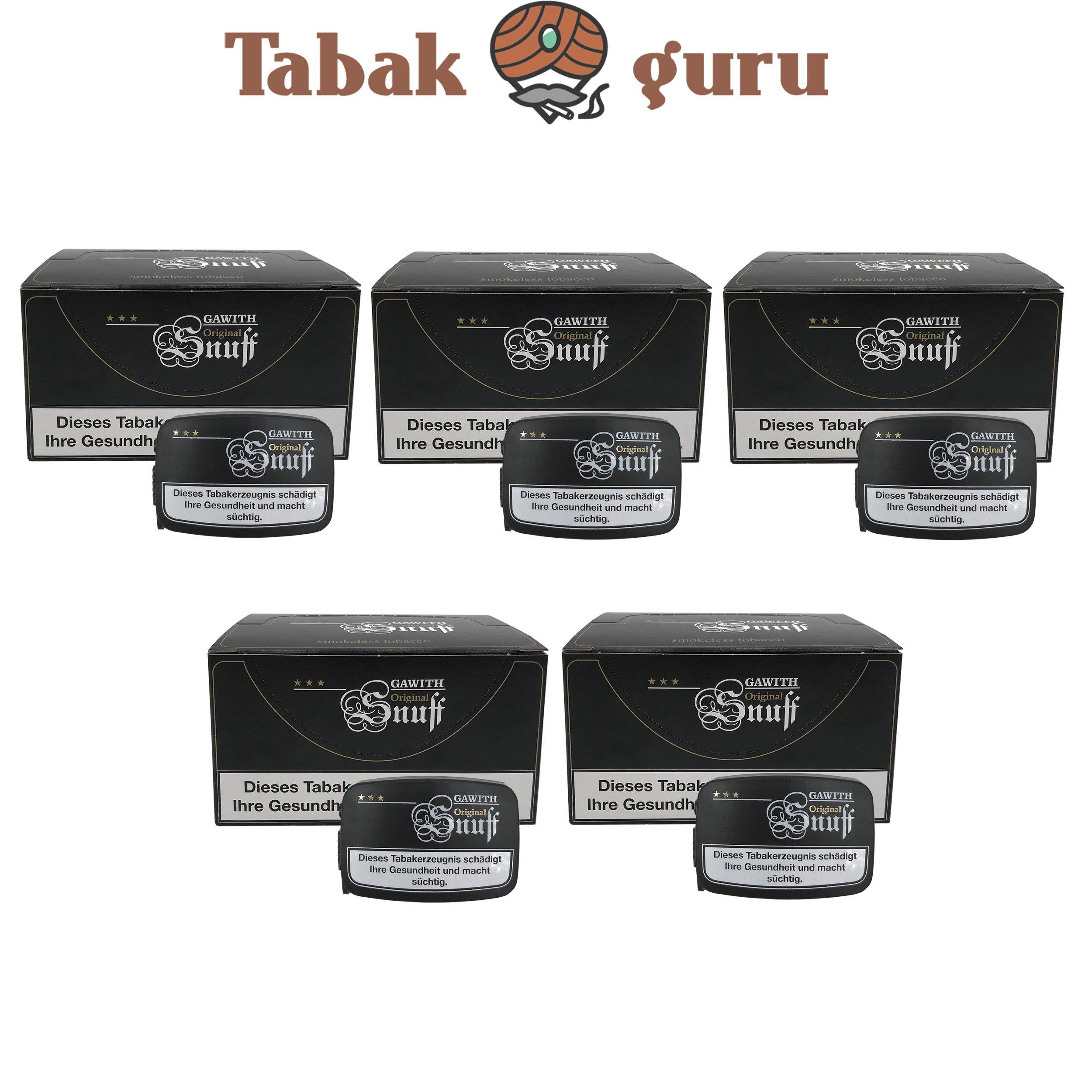 100x Gawith Original Snuff Schnupftabak Dose á10 g