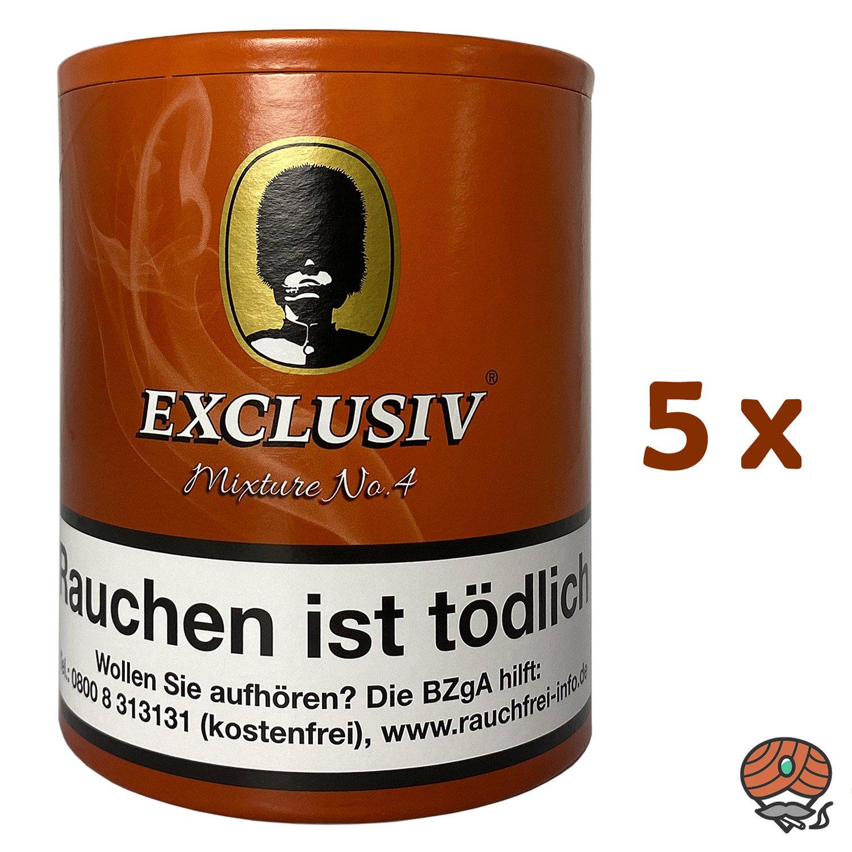 5x EXCLUSIV Mixture No. 4 Pfeifentabak Dose à 200g