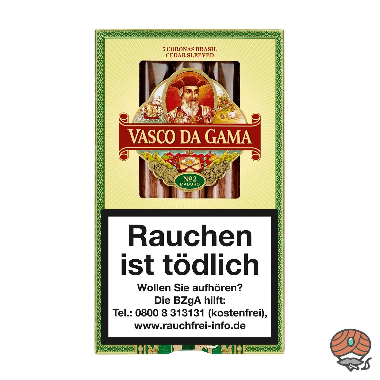 Vasco da Gama Corona Brasil No. 2 Maduro Zigarren, 5 Stück