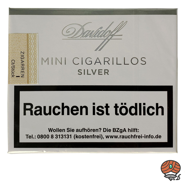 Davidoff Silver / Silber Mini Cigarillos / Zigarillos, 20 Stück