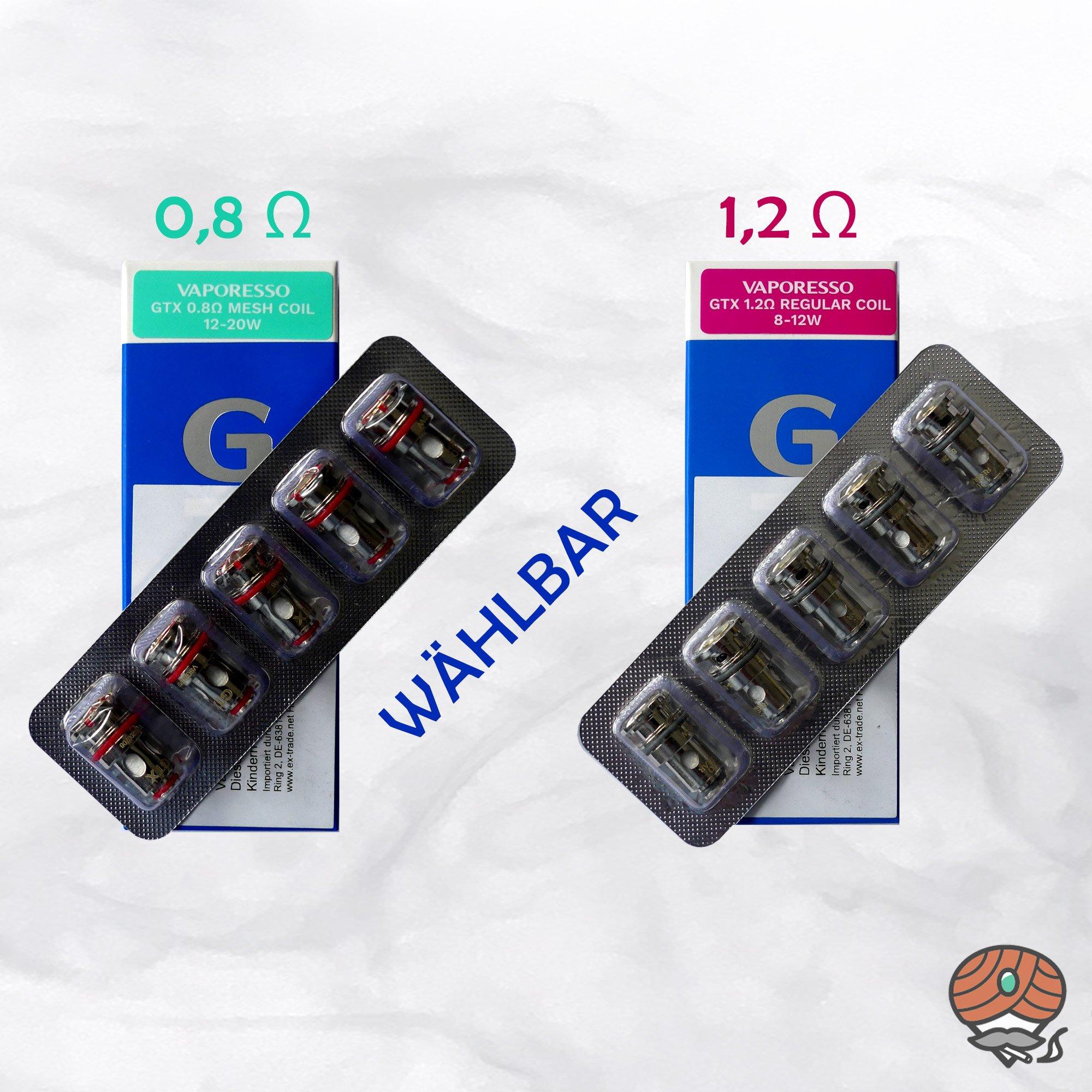 Vaporesso GTX ONE Coils / Verdampferköpfe 0,8 und 1,2 Ohm | WÄHLBAR