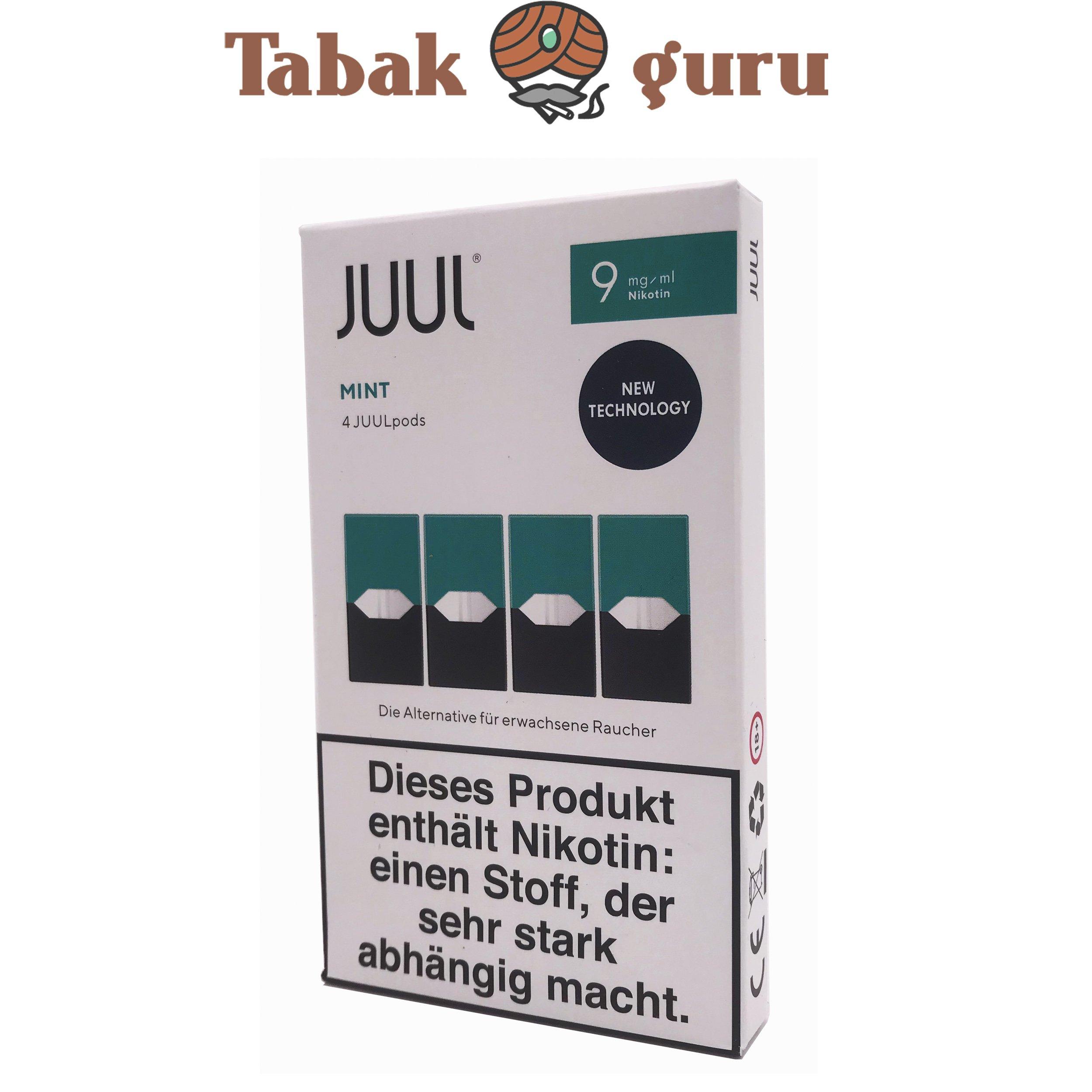JUUL Mango, Rich Tobacco, Mint Pods 9mg/ml á 4 Pods