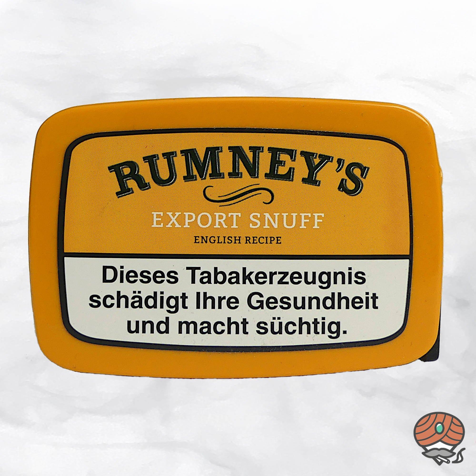 RUMNEY'S Export Snuff Schnupftabak 10g Dose
