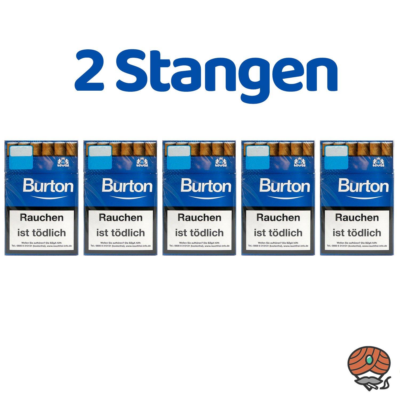 2 Stangen Burton Blau (ehem. White) Filterzigarillos (17 Stück / Schachtel)