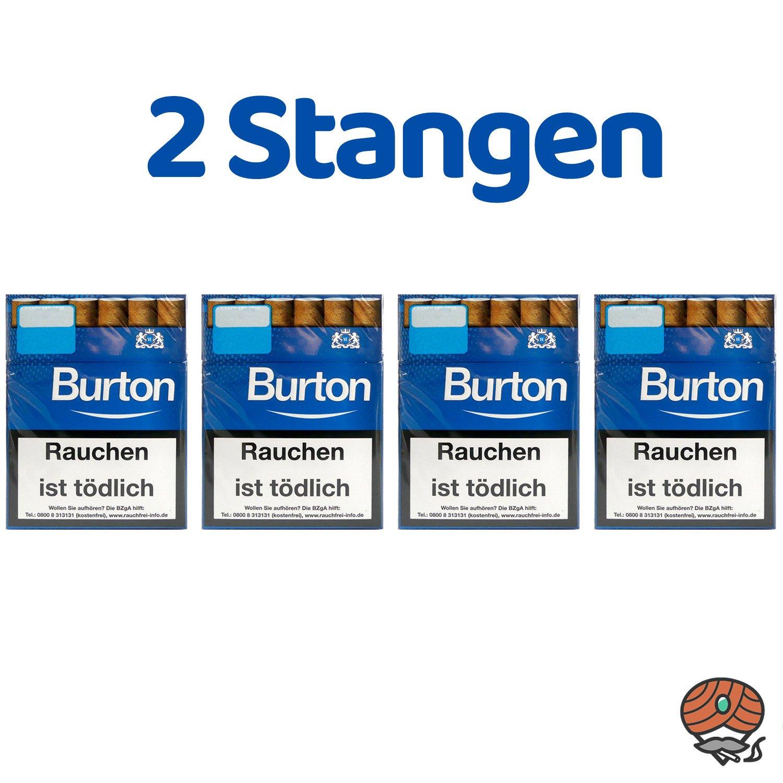 2 Stangen Burton Blau (ehem. White) Filterzigarillos (25 Stück/ Schachtel)