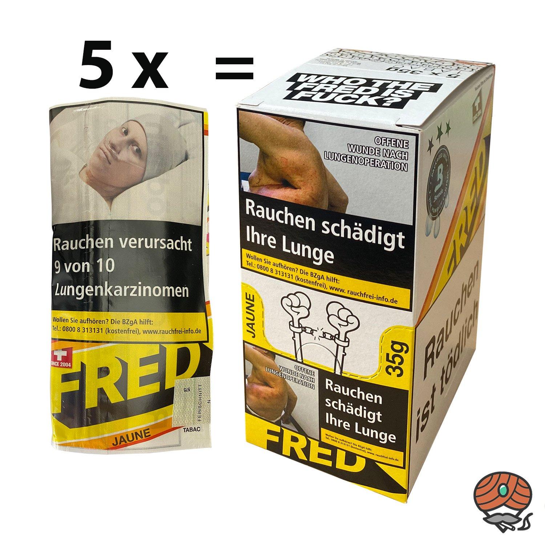 5 x Fred Jaune Drehtabak 35g im Karton