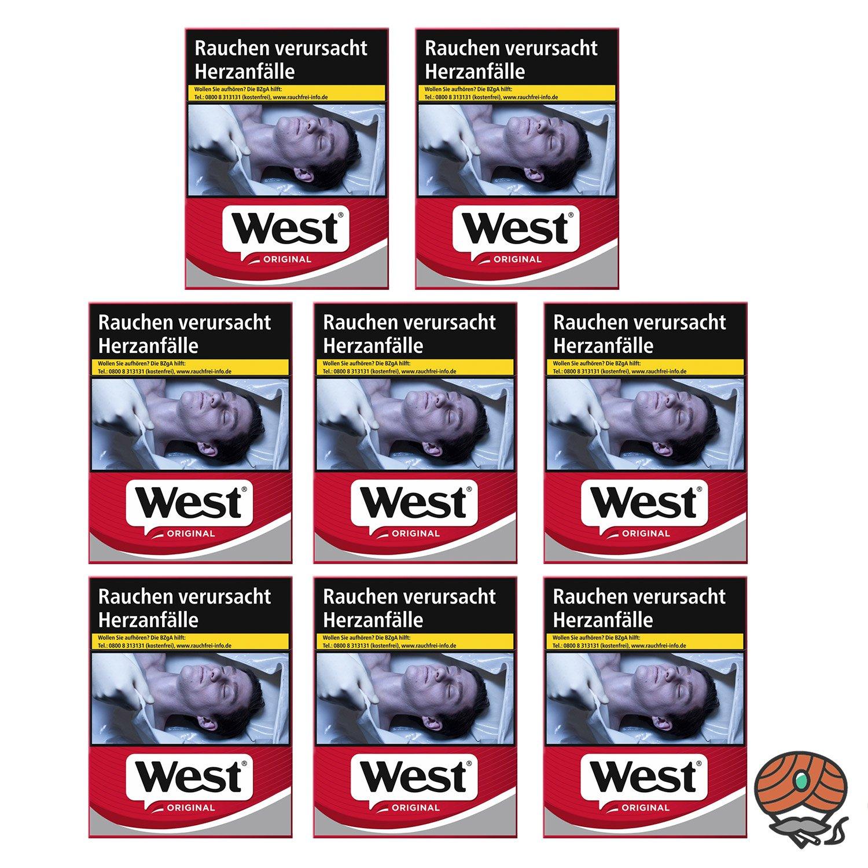 8 x West Red Zigaretten à 37 Stück