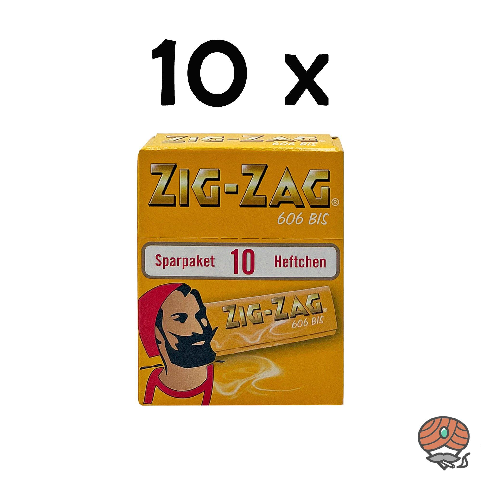 10 x Zig-Zag Gelb im Sparpack Nr.606 Blättchen / Drehpapier à 500 Blatt