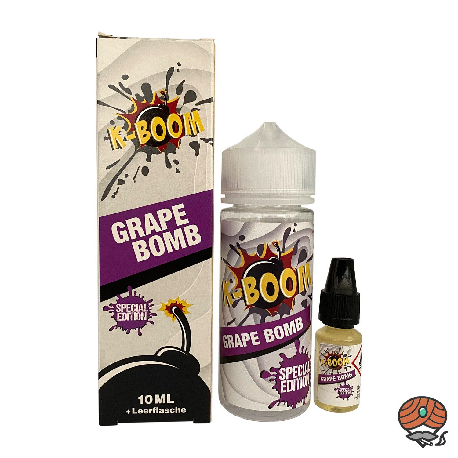 K-BOOM Grape Bomb 10 ml Aroma + Leerflasche, Longfill