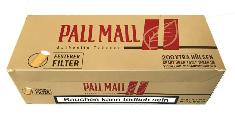 200 Pall Mall Red Authentic Red Xtra Filterhülsen