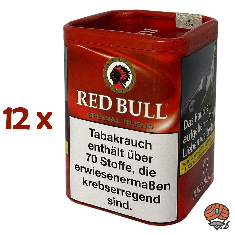 12x Red Bull Special Blend Tabak / Zigarettentabak Dose à 120g