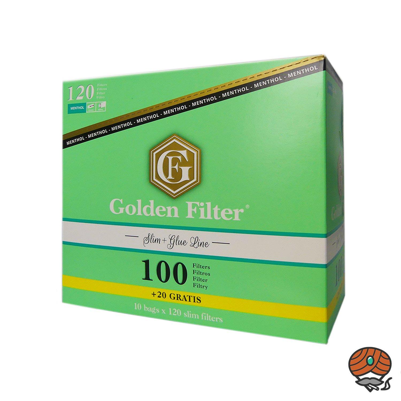 10 x Golden Filter à 120 Slim Menthol Filter Beutel - Box