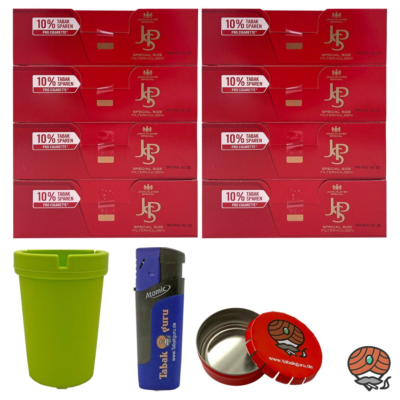 8 Pack JPS John Player Special Extra Hülsen + Aschenbecher + Zubehörartikel