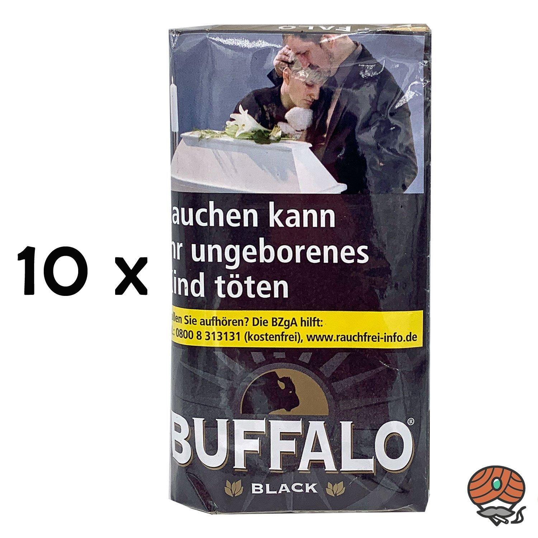 10x Buffalo Black Feinschnitt Drehtabak à 40g Beutel