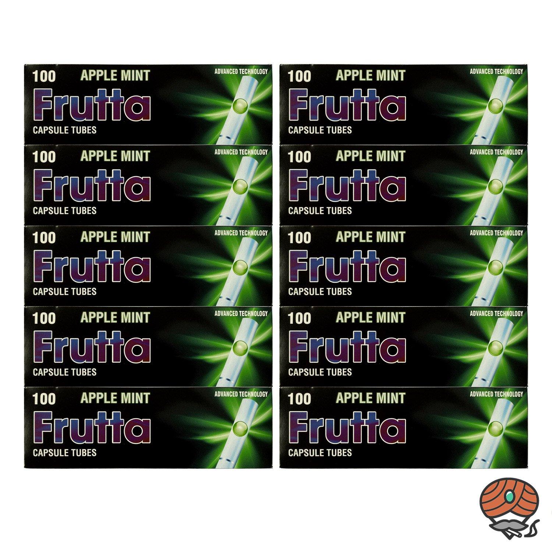 10 x Frutta Apple Mint / Apfel Minze Click-Zigarettenhülsen
