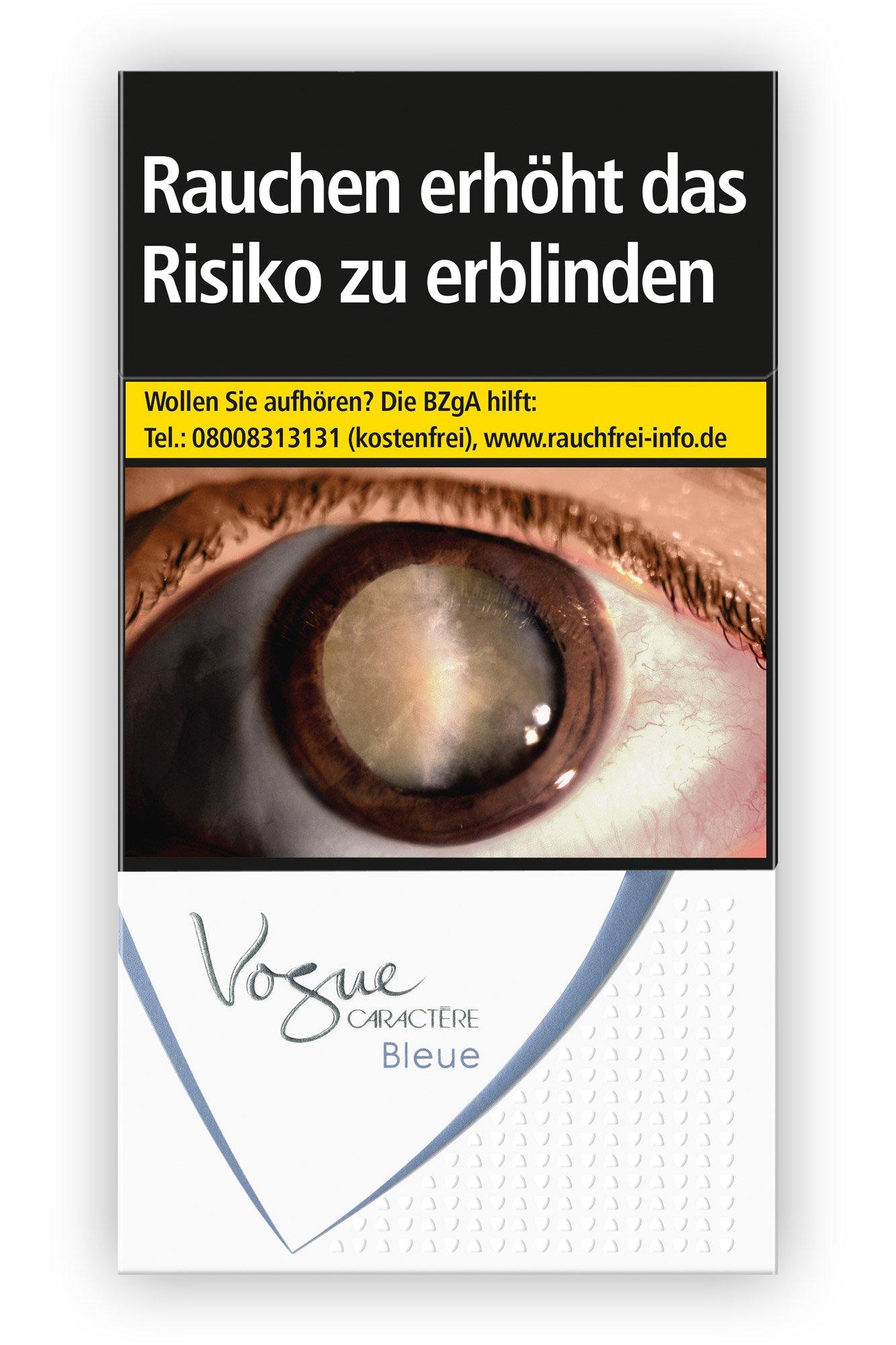 Vogue Caractère Bleue Zigaretten Inhalt: 20 Stück