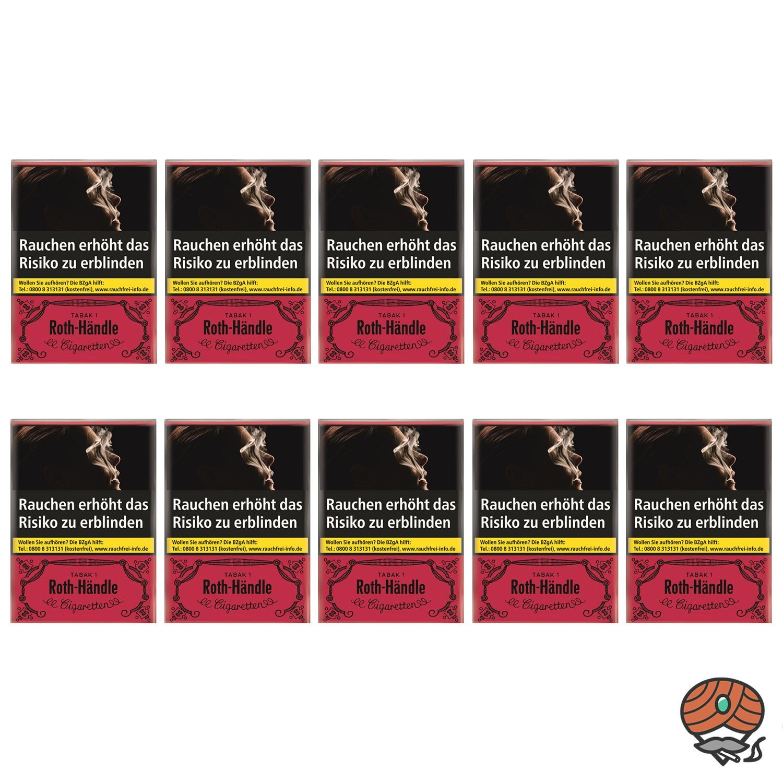 1 Stange Roth Händle Zigaretten ohne Filter Softpack 10x20 Stück