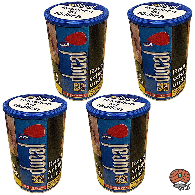 4x Ducal Blue / Blau Feinschnitt Zigarettentabak Dose à 200 g