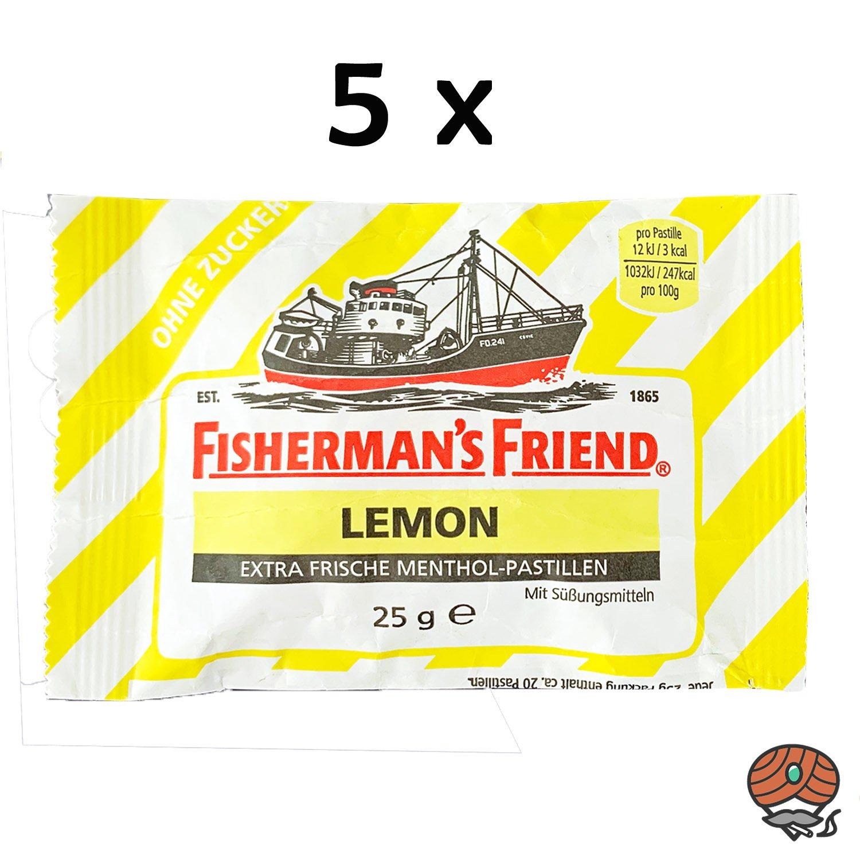 5 x Fisherman`s Friend Menthol-Pastillen Lemon - Zitrone
