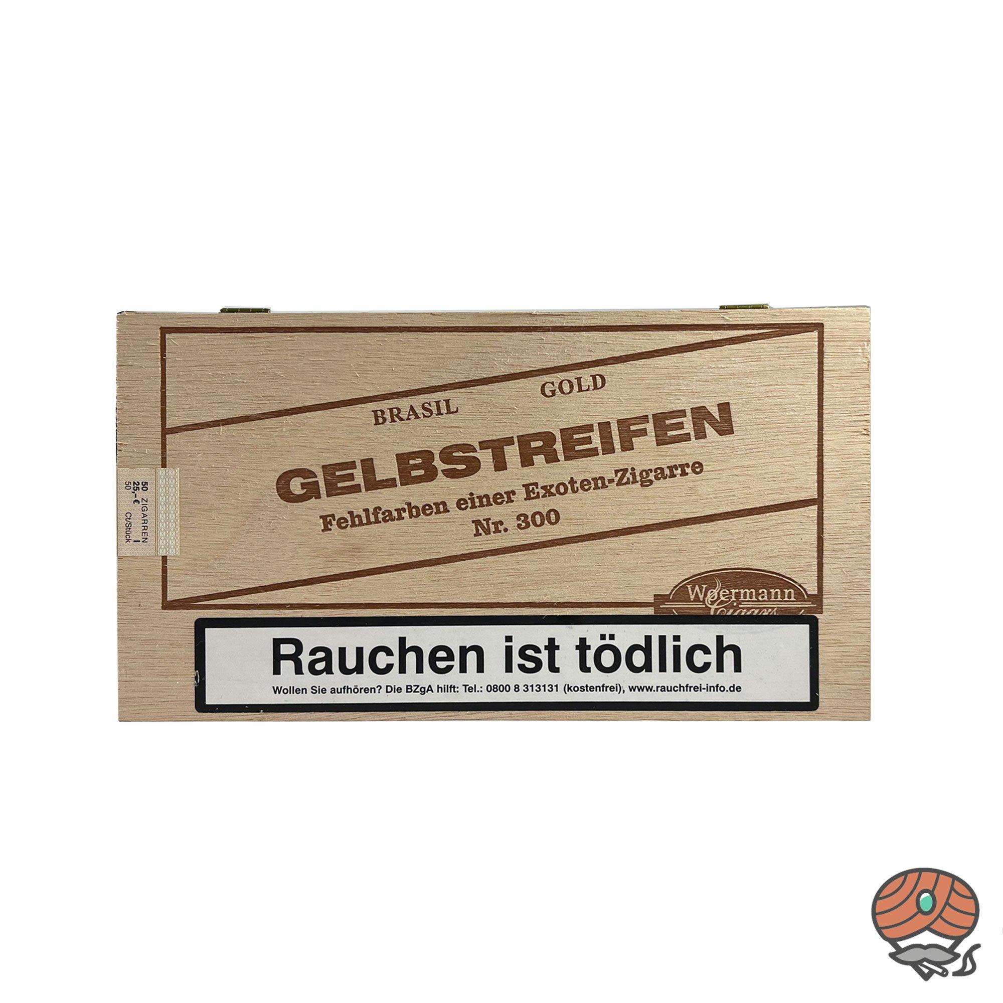 Gelbstreifen Brasil Nr. 300 Fehlfarben Zigarren 50 Stück
