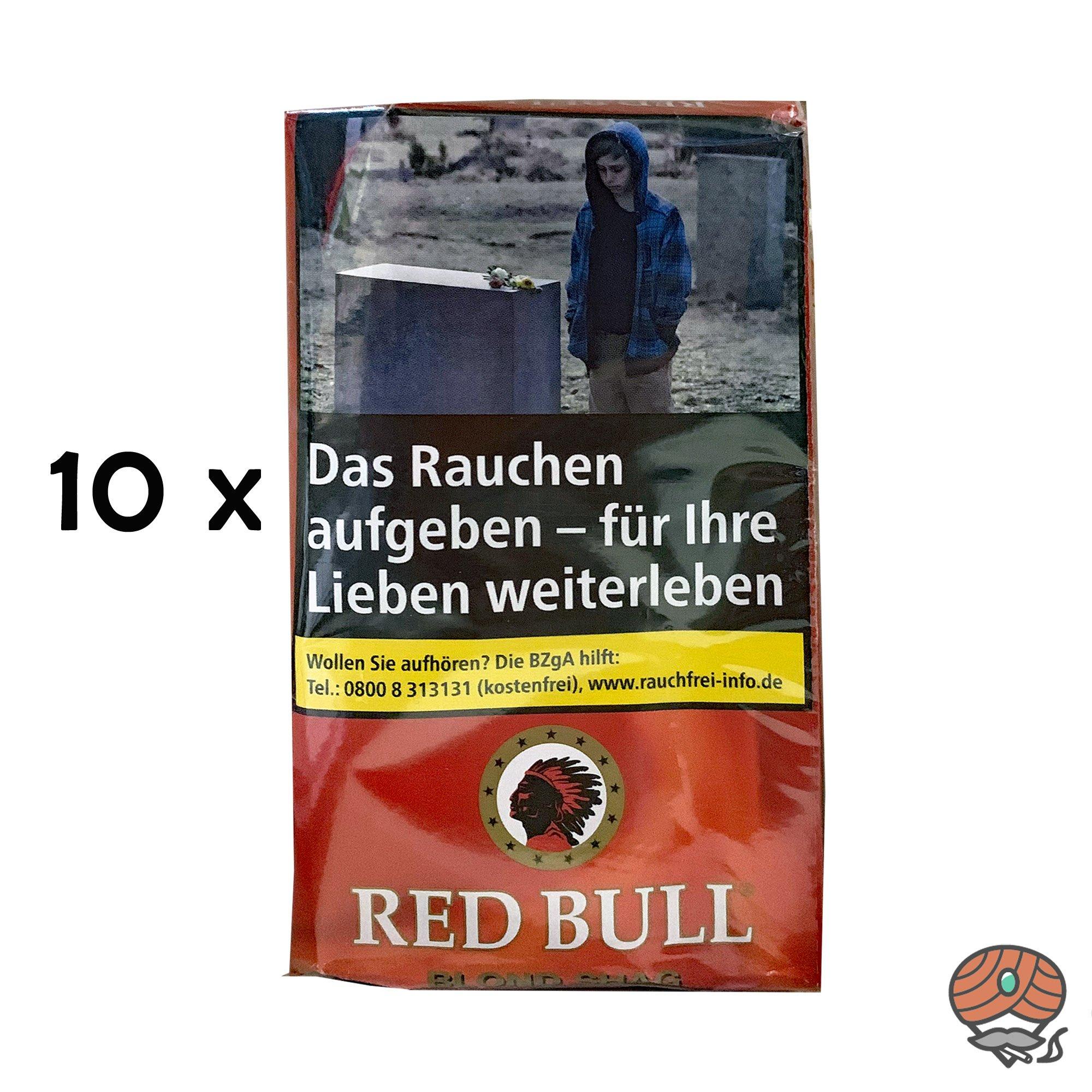 10 x Red Bull Blond Shag Zigarettentabak Pouch à 40g