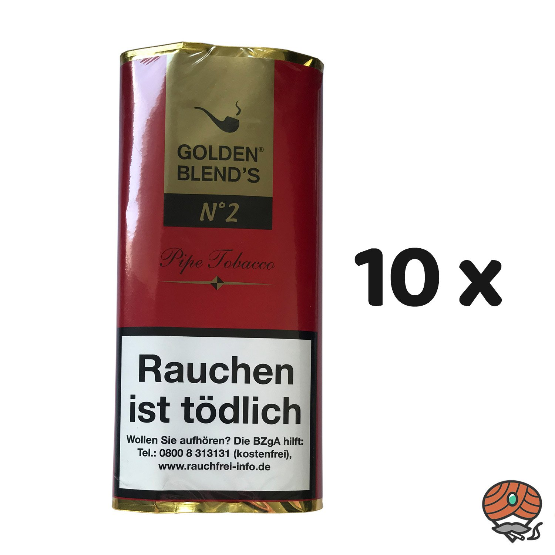10 x Golden Blend´s No. 2 Pfeifentabak 50g Pouch (ehem. Black Cherry)