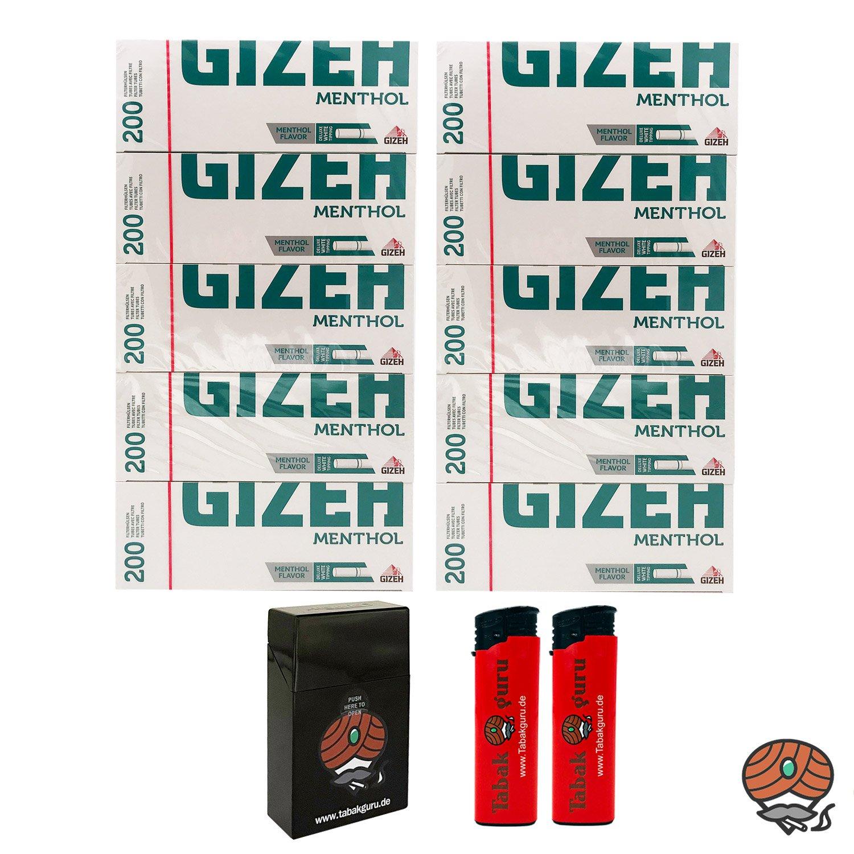 10 Pack Gizeh MenthoI Filterhülsen + Zubehörartikel