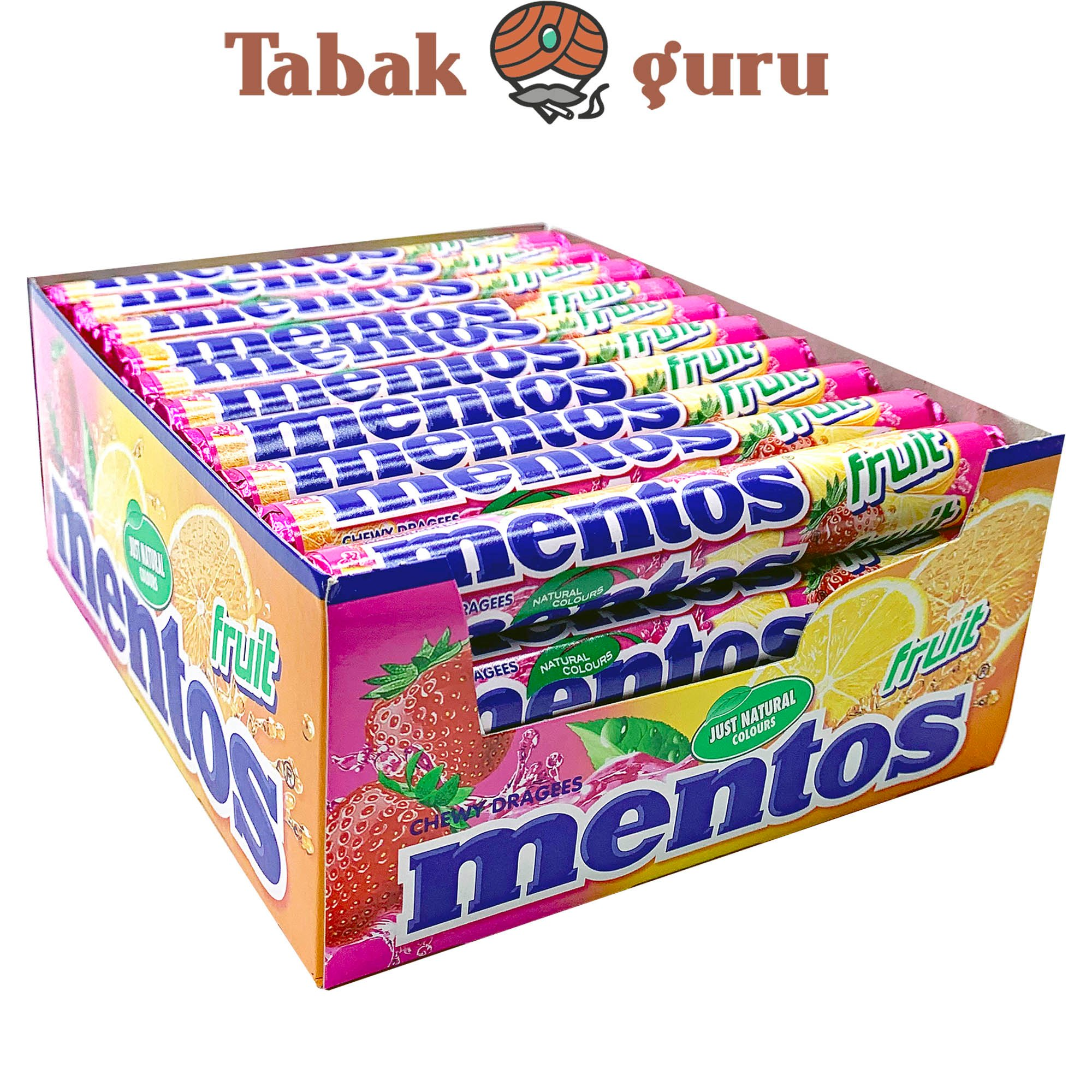 40 Rollen Mentos Fruit Kaubonbons