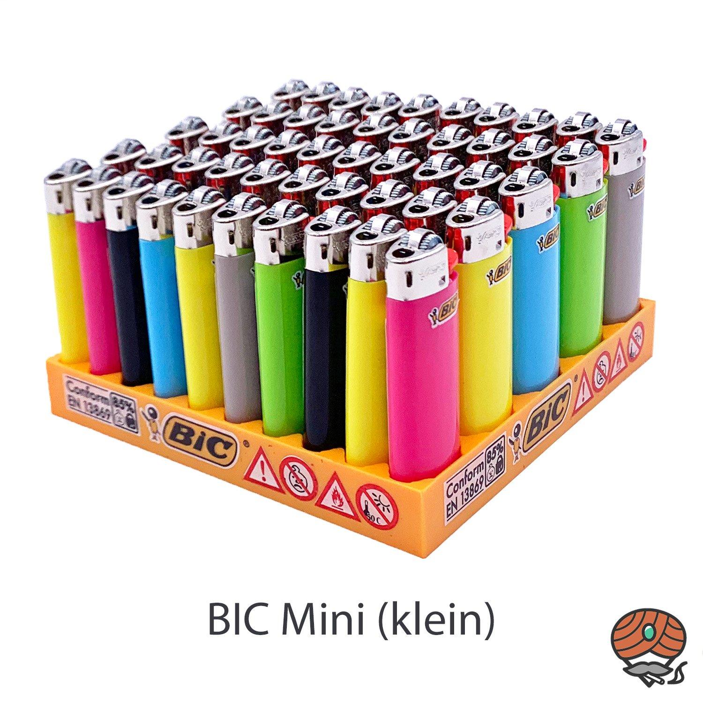 50 BIC Mini Reibrad Feuerzeug verschiedene Farben
