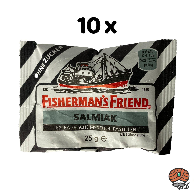 10 x Fisherman`s Friend Menthol-Pastillen Salmiak