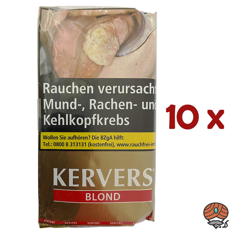 10x KERVERS Blond Drehtabak - Zigarettentabak - Tabak Pouch à 40 g