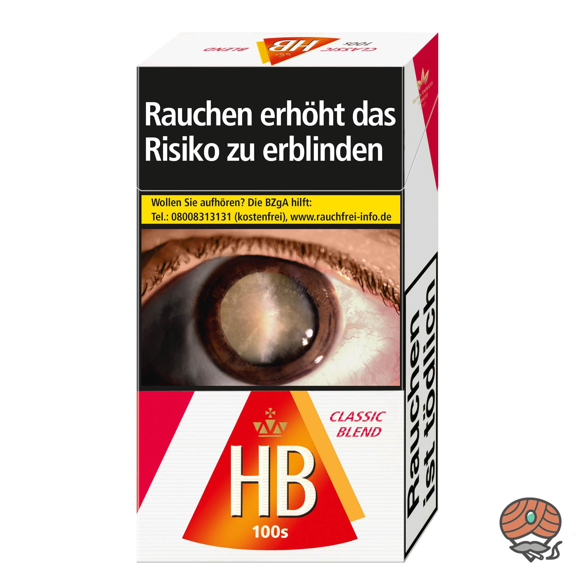 HB Classic Blend 100 Zigaretten (20 Stück)