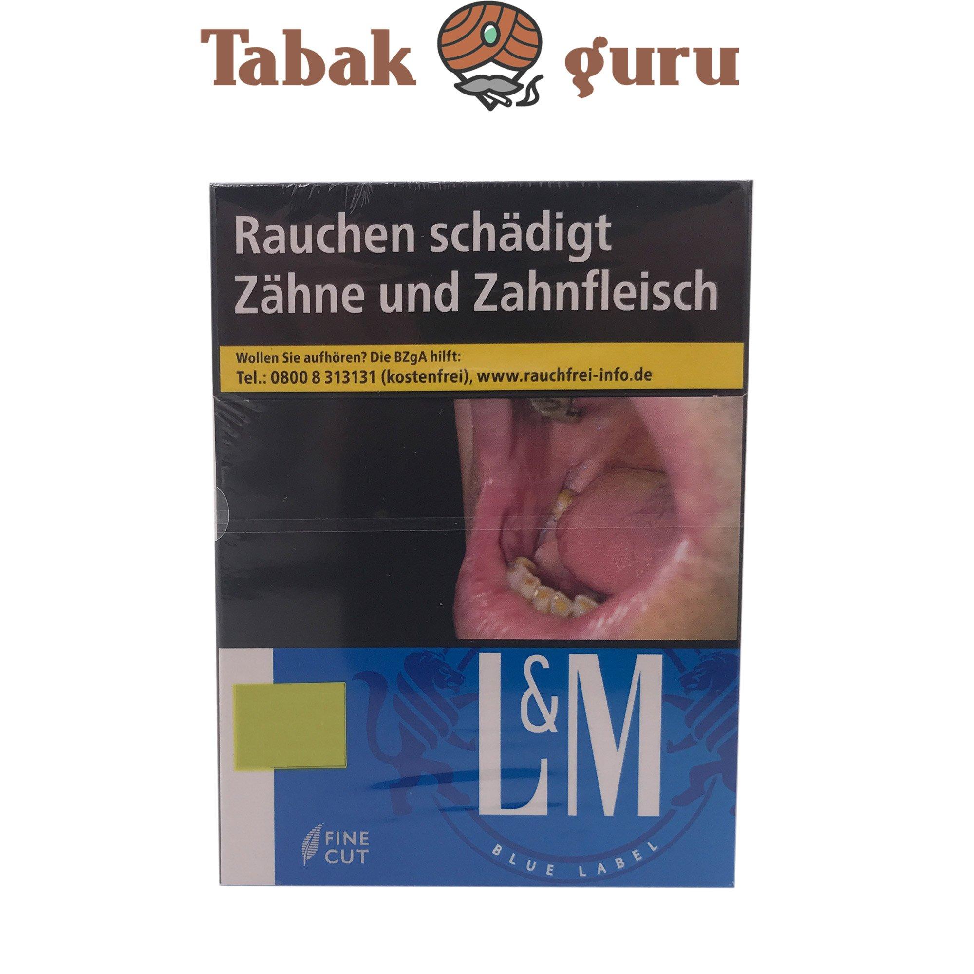 L&M Blue Label XXL Zigaretten Inhalt 25 Stück