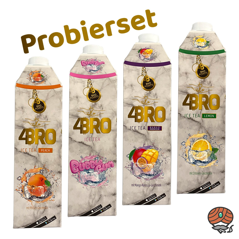 4 x 4BRO ICE TEA Eistee 1 Liter PROBIERSET