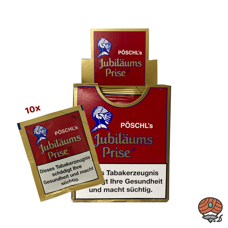 10x Pöschl´s Jubiläums Prise Schnupftabak 10g Beutel