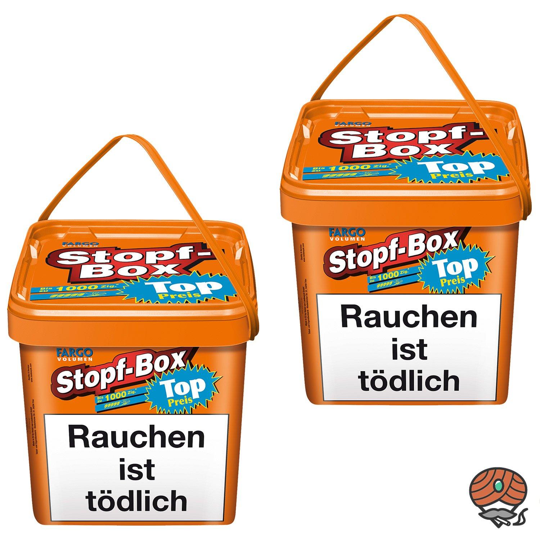 2x Fargo Stopf-Box Stopftabak / Volumentabak Eimer à 480 g