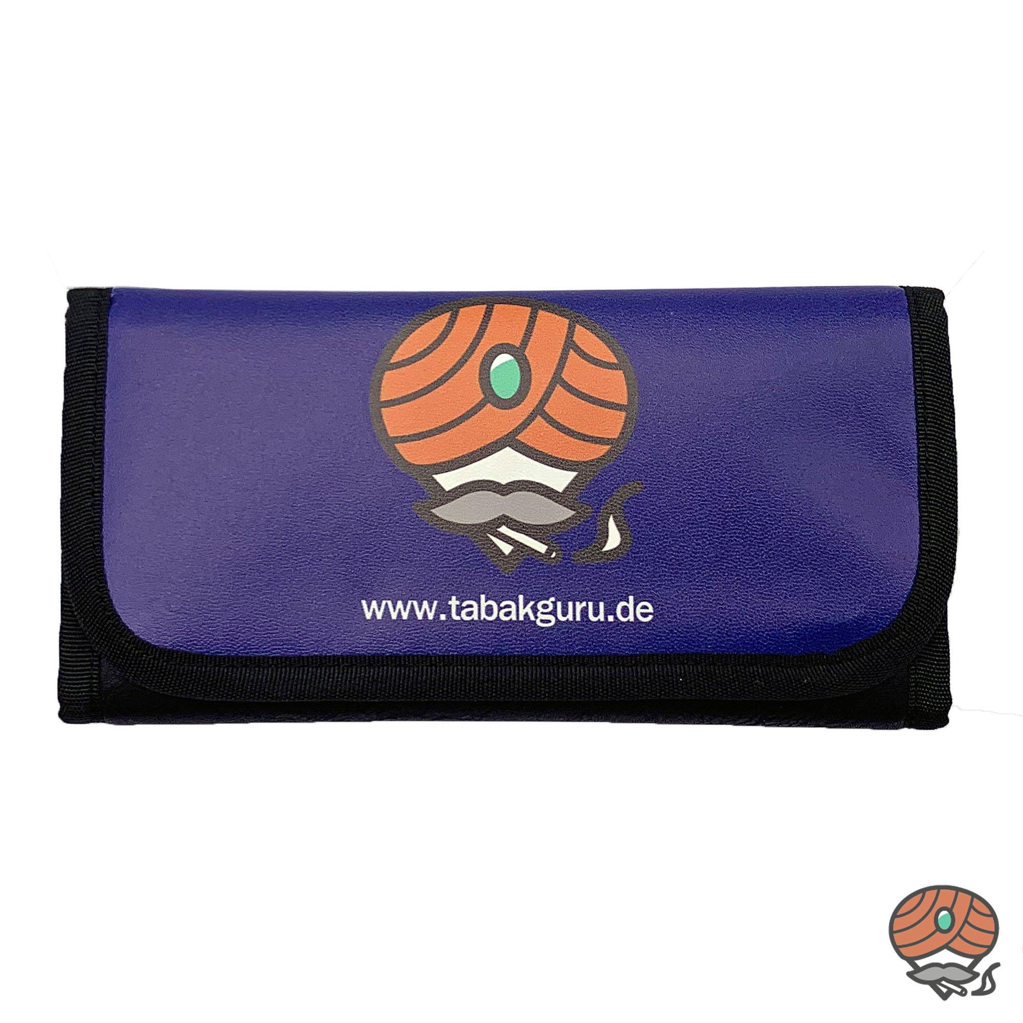Tabakguru Tabak Beutel / Tasche für Drehtabak und Zubehör Dunkelblau / Schwarz