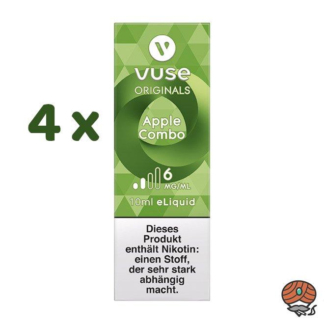 Vuse eLiquid Bottle 4x Apple Combo 6 mg/ml (ehem. Vype Apple Custard)