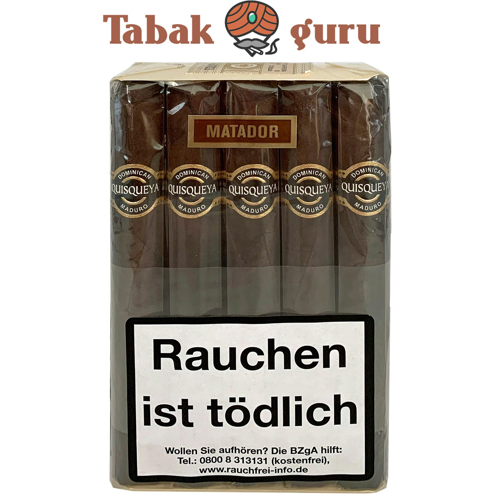 10 Quisqueya Maduro Zigarren im Matador Format