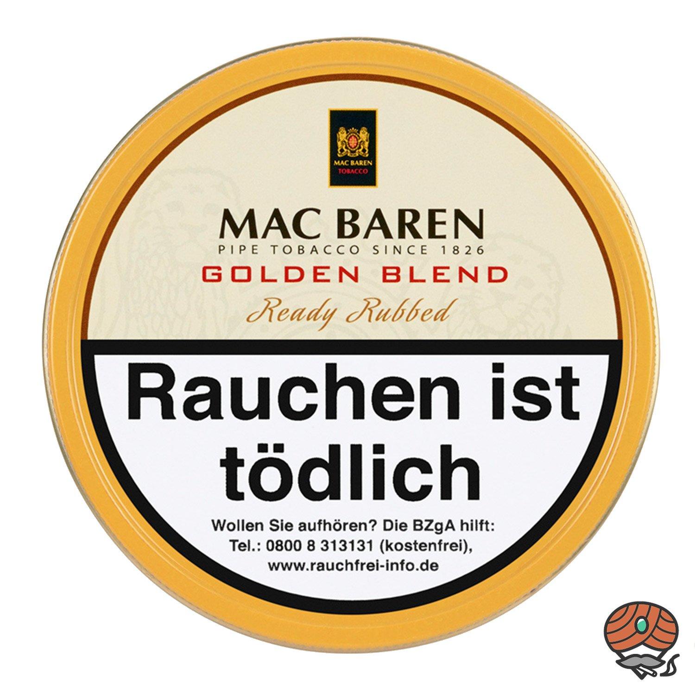 Mac Baren Golden Blend Ready Rubbed Pfeifentabak 100 g Dose