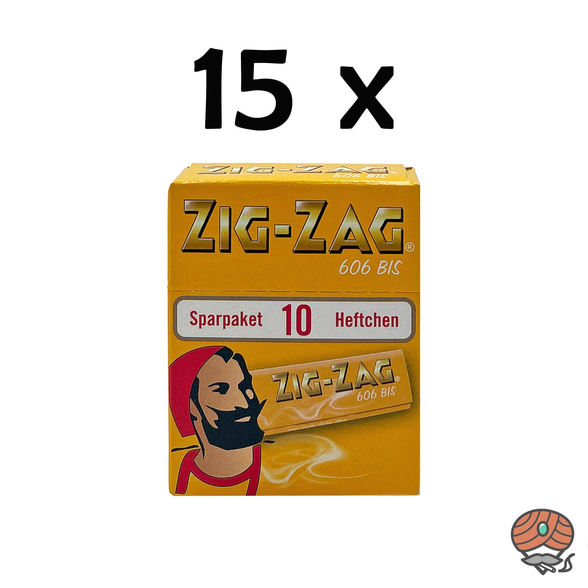 15 x Zig-Zag Gelb im Sparpack Nr.606 Blättchen / Drehpapier à 500 Blatt